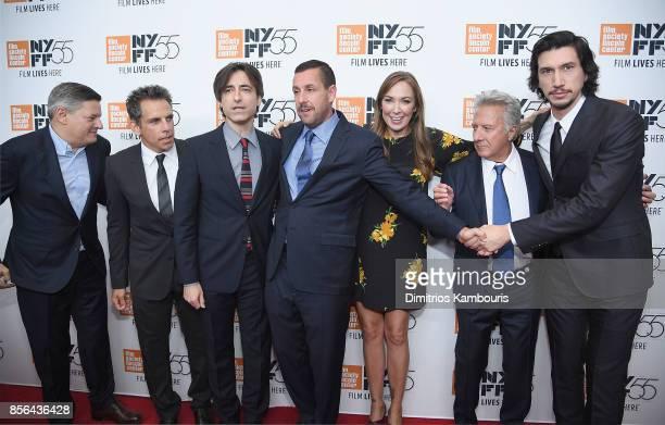 Ted Sarandos Ben Stiller Noah Baumbach Adam Sandler Elizabeth Marvel Dustin Hoffman and Adam Driveattend The 55th New York Film Festival 'Meyerowitz'...