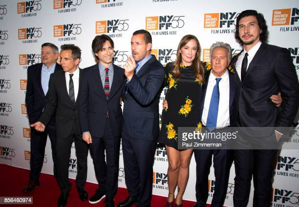 Ted Sarandos Ben Stiller Noah Baumbach Adam Sandler Elizabeth Marvel Dustin Hoffman and Adam Driver attend the 55th New York Film Festival...