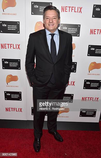 Ted Sarandos Head of Content Acquisition for Netflix attends the 2015 IDA Documentary Awards at Paramount Studios on December 5 2015 in Hollywood...