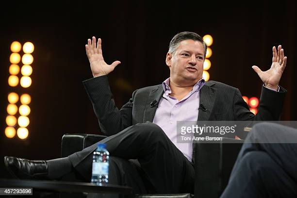 Ted Sarandos NETFLIX Chief Content Officer attends Keynote during MIPCOM at the Palais des festivals on October 14 2014 in Cannes France