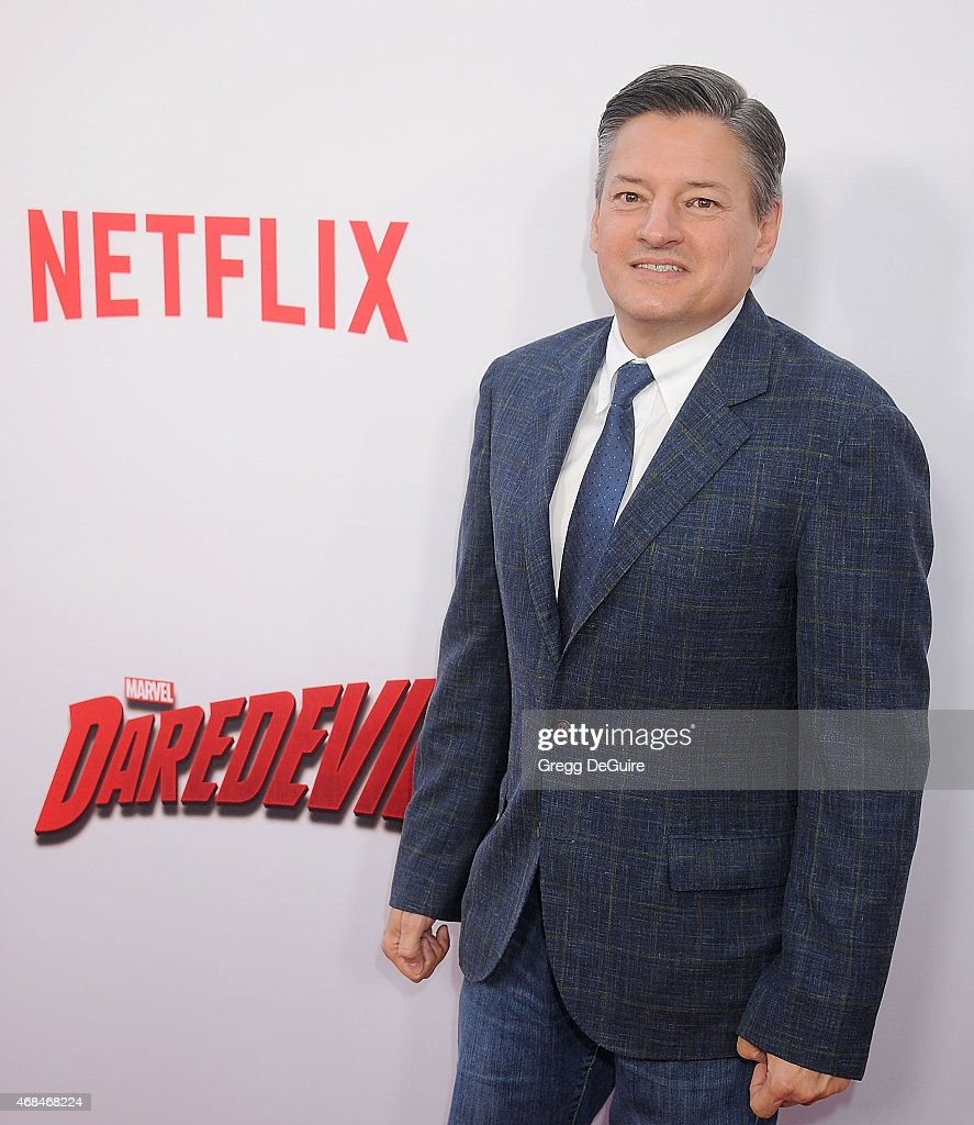 Ted Sarandos of Netflix arrives at the premiere Of Netflix's 'Marvel's Daredevil' at Regal Cinemas L.A. Live on April 2, 2015 in Los Angeles, California.