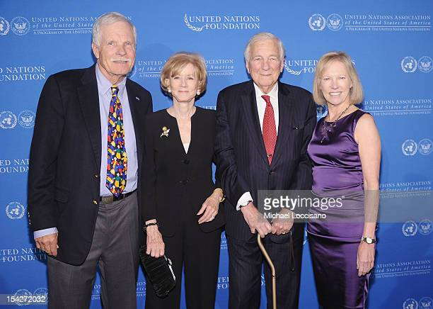Ted Turner Cynthia Matthews Whitehead husband United Nations Former Chairman John C Whitehead and nited Nations Foundation CEO Kathy Calvin attend...