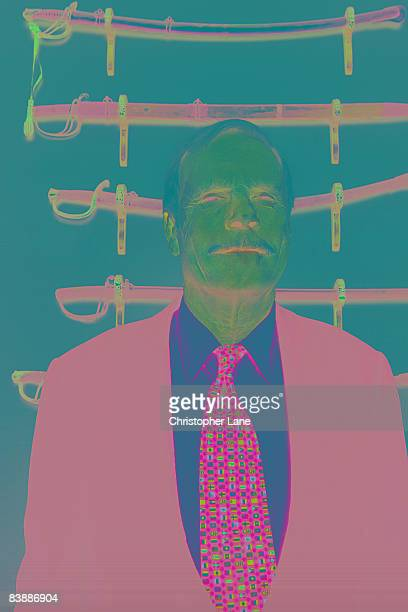 Ted Turner founder of CNN and philanthropist poses at a portrait session at his office in Atlant