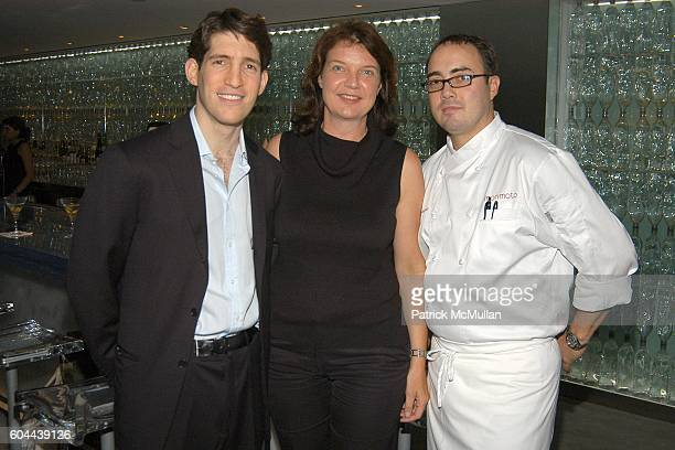Ted Zagat Gabi Saure and Chef Mark Andelbradt attend ECLIPSE and ZAGAT SURVEY 2006 'Dare to Dine Guide' Launch Party at Morimoto on August 15 2006 in...