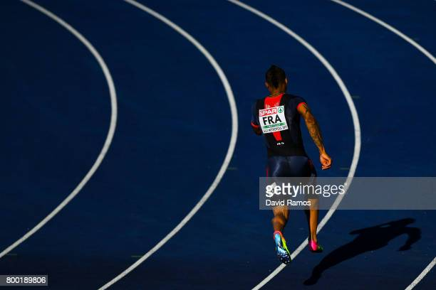 Teddy Atine of France competes in the Men's 400m during day 1 of the European Athletics Team Championships at the Lille Metropole stadium on June 23...