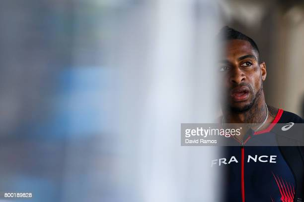 Teddy Atine of France looks on after competing in the Men's 400m during day 1 of the European Athletics Team Championships at the Lille Metropole...