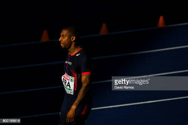 Teddy Atine of France looks on before competing in the Men's 400m during day 1 of the European Athletics Team Championships at the Lille Metropole...