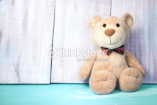 teddy bear background empty space for textbirthday toy stock photo