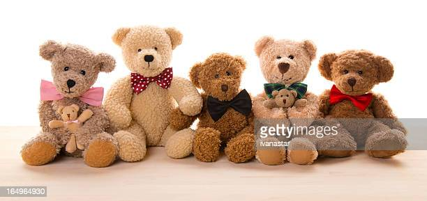 Teddy Bear Bündel-Familientreffen