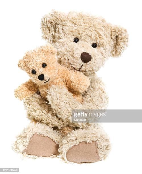 Ours en peluche Hug isolé sur blanc