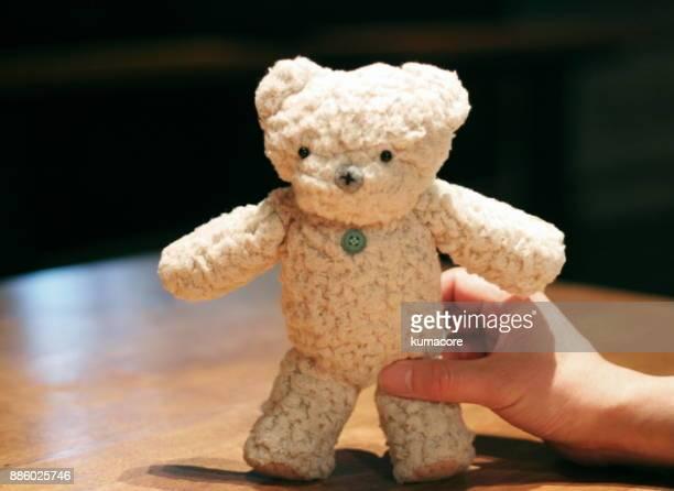Teddy bear in hand