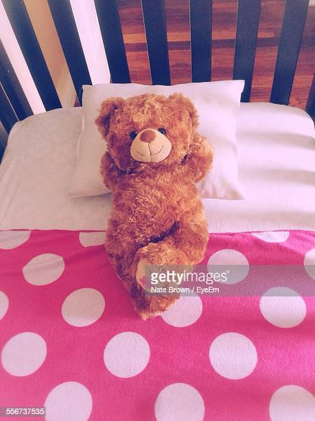 Teddy Bear On Bed