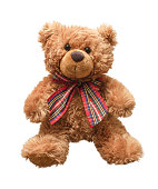 Teddy bear isolated on white bacground.