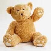Teddy bear waving
