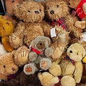 Teddy bears toys background