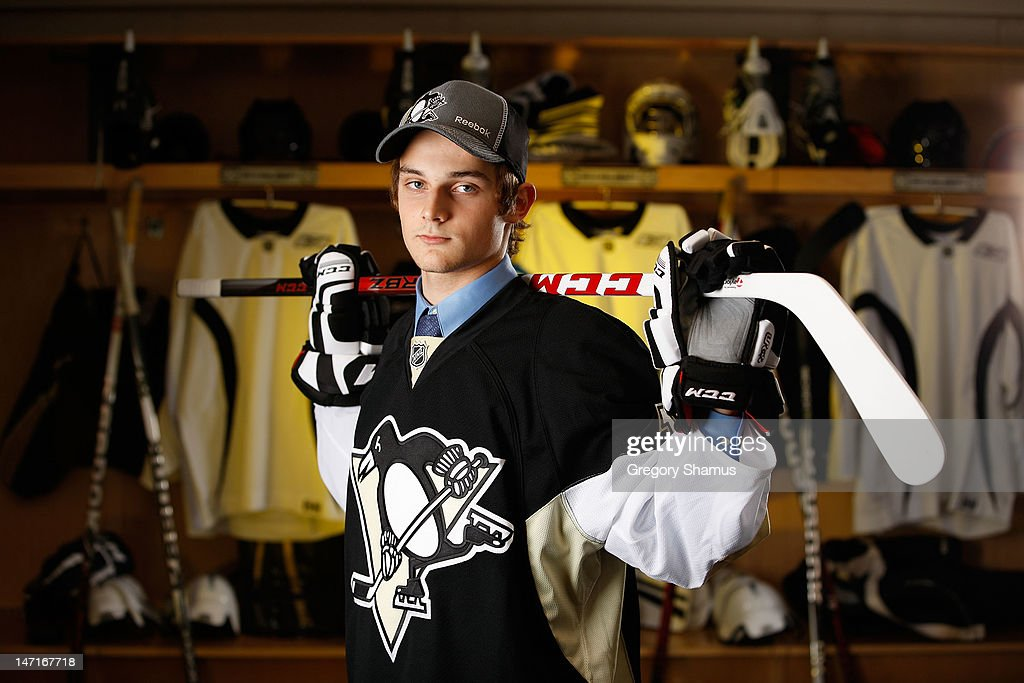 Teddy Blueger, 52nd overall pick by the Pittsburgh Penguins, poses for a portrait during the 2012 NHL Entry Draft at Consol Energy Center on June 23, 2012 in Pittsburgh, Pennsylvania.