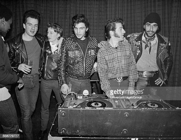 Teddy Boys at Shades disco Manor House London 15th January 1980