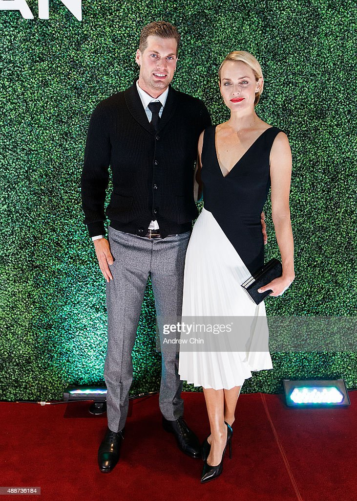 Teddy Charles and American Model and Actress Amber Valletta attend Nordstrom Vancouver Store Opening Gala Red Carpet at Vancouver Art Gallery on September 16, 2015 in Vancouver, Canada.