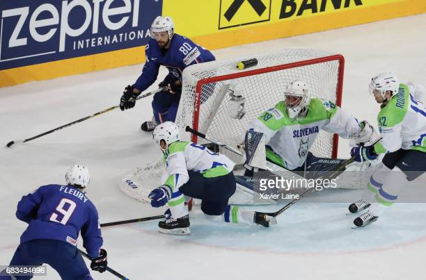 Teddy Da Costa of France during the 2017 IIHF Ice Hockey World Championship game between France and Slovenia at AccorHotels Arena on May 15 2017 in...
