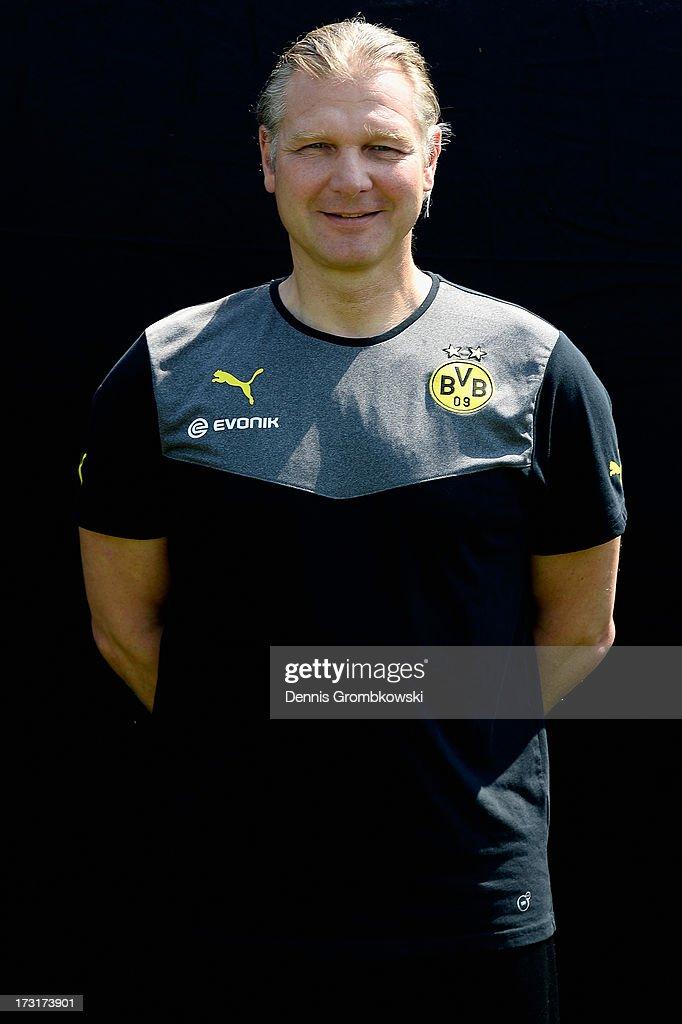 Teddy de Beer poses during the Borussia Dortmund Team Presentation at Brackel Training Ground on July 9, 2013 in Dortmund, Germany.