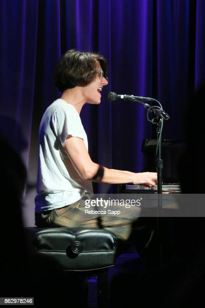 Teddy Geiger performs at Chart Toppers Songwriters/Producers InTheRound Featuring Busbee Dave Bassett Warren 'Oak' Felder And Teddy Geiger at The...
