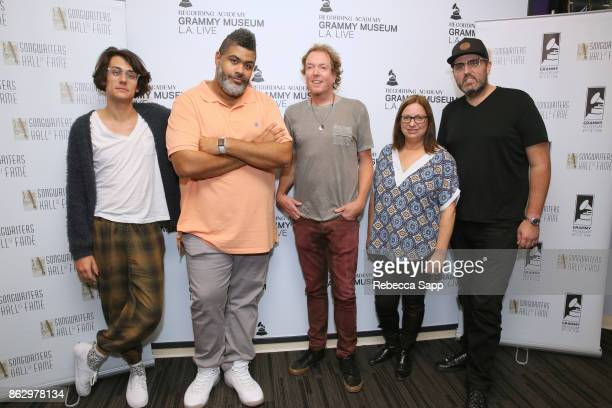 Teddy Geiger Warren 'Oak' Felder Dave Bassett Shirley Halperin and Busbee attend Chart Toppers Songwriters/Producers InTheRound Featuring Busbee Dave...