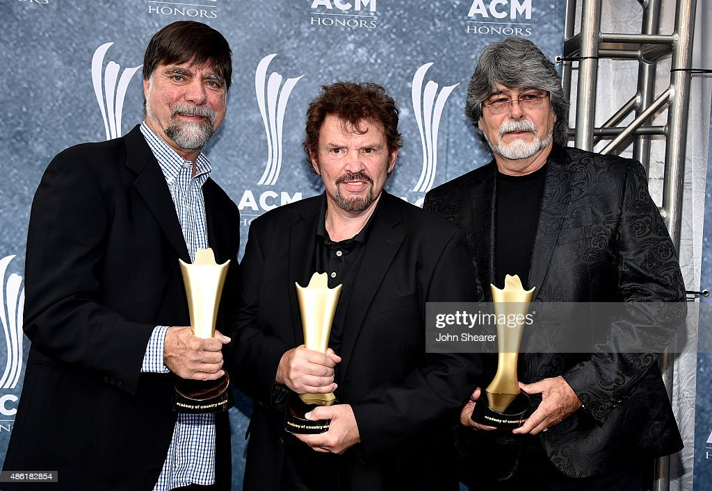 Teddy Gentry Jeff Cook and Randy Owen of Alabama attend the 9th Annual ACM Honors at the Ryman Auditorium on September 1 2015 in Nashville Tennessee