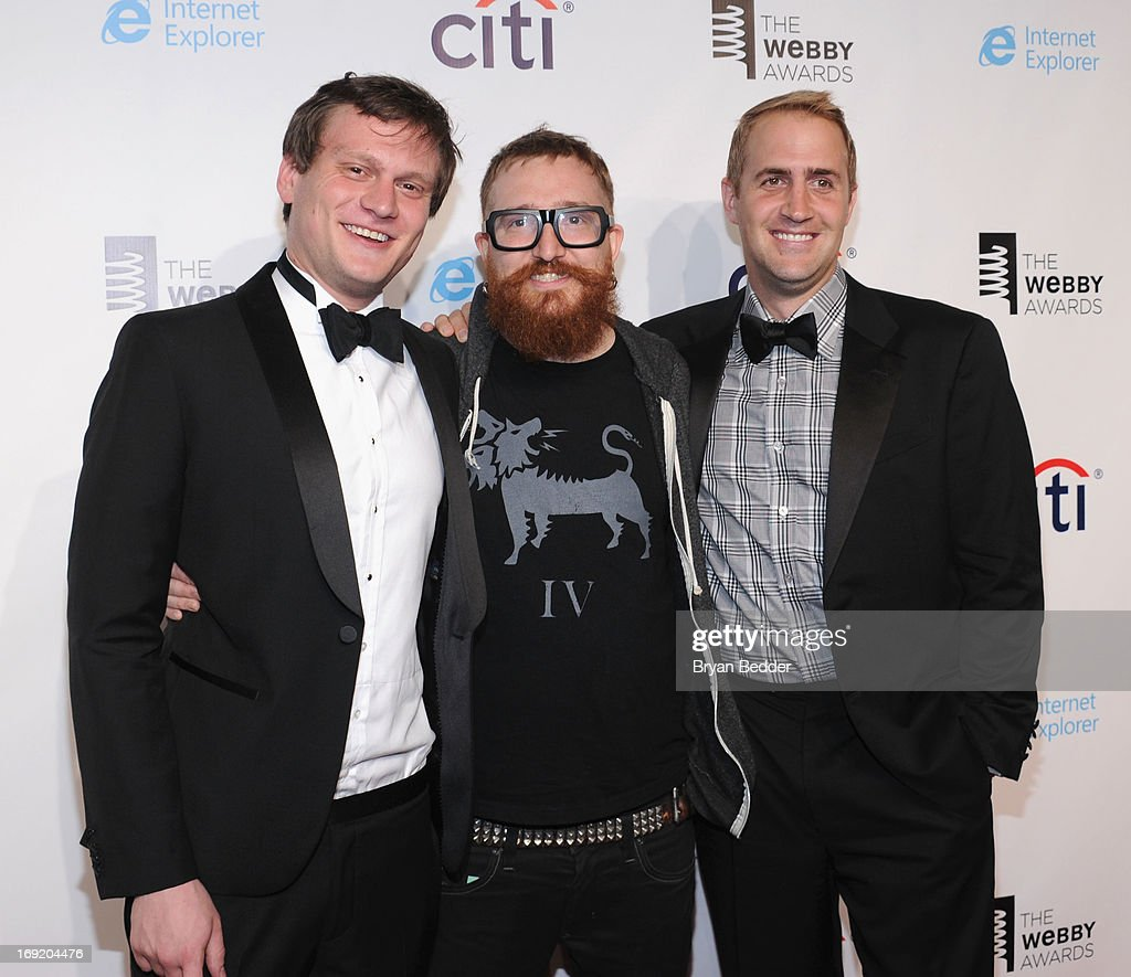 Teddy Goff, Harper Reed, Michael Stalby attend the 17th Annual Webby Awards at Cipriani Wall Street on May 21, 2013 in New York City.