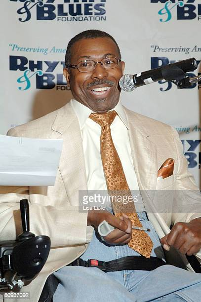 Teddy Pendergrass at RB Foundation Press Conference to announce 2008 Pioneer Award nominees April 30 2008 at the Lowe's Hotel in Philadelphia...