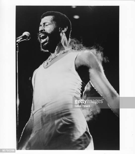 Teddy Pendergrass performs on stage c 1977