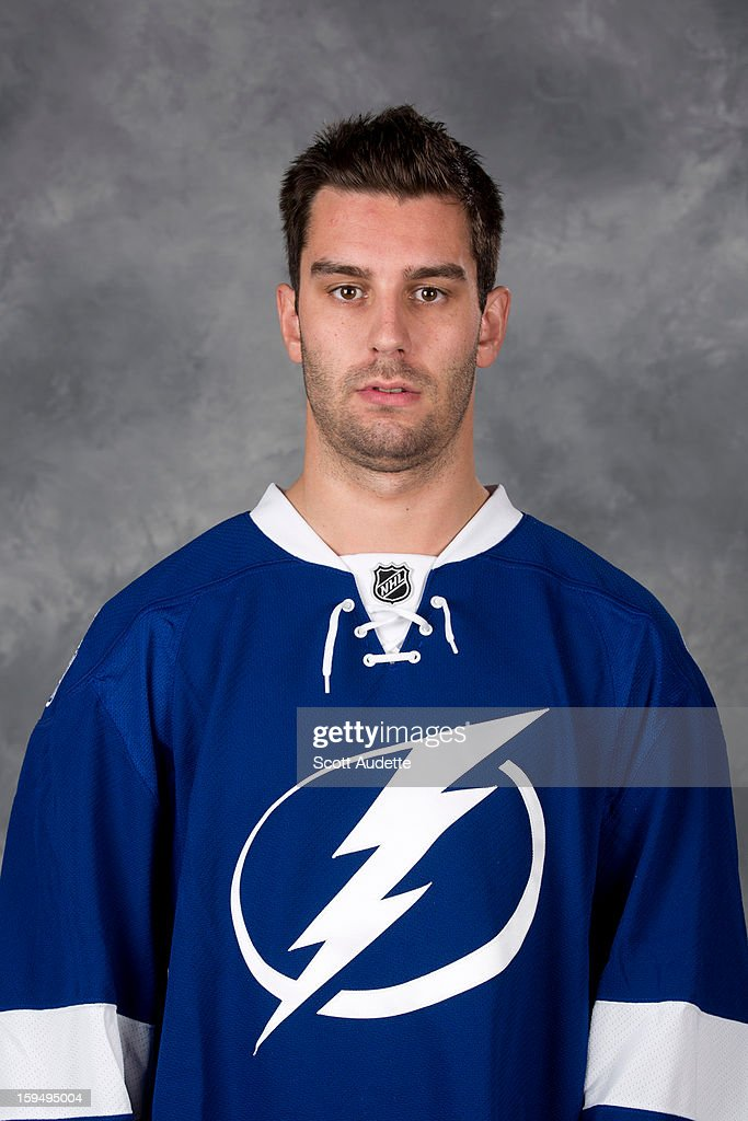 <a gi-track='captionPersonalityLinkClicked' href=/galleries/search?phrase=Teddy+Purcell&family=editorial&specificpeople=4537302 ng-click='$event.stopPropagation()'>Teddy Purcell</a> #16 of the Tampa Bay Lightning poses for his official headshot for the 2012-2013 season at the Tampa Bay Times Forum on January 13, 2013 in Tampa, Florida.