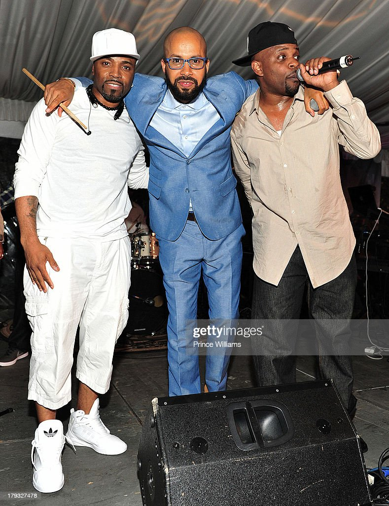 Teddy Riley, Kenny Burns and Case attend Platinum Edition Of ATL Live on the Park at Park Tavern on August 26, 2013 in Atlanta, Georgia.