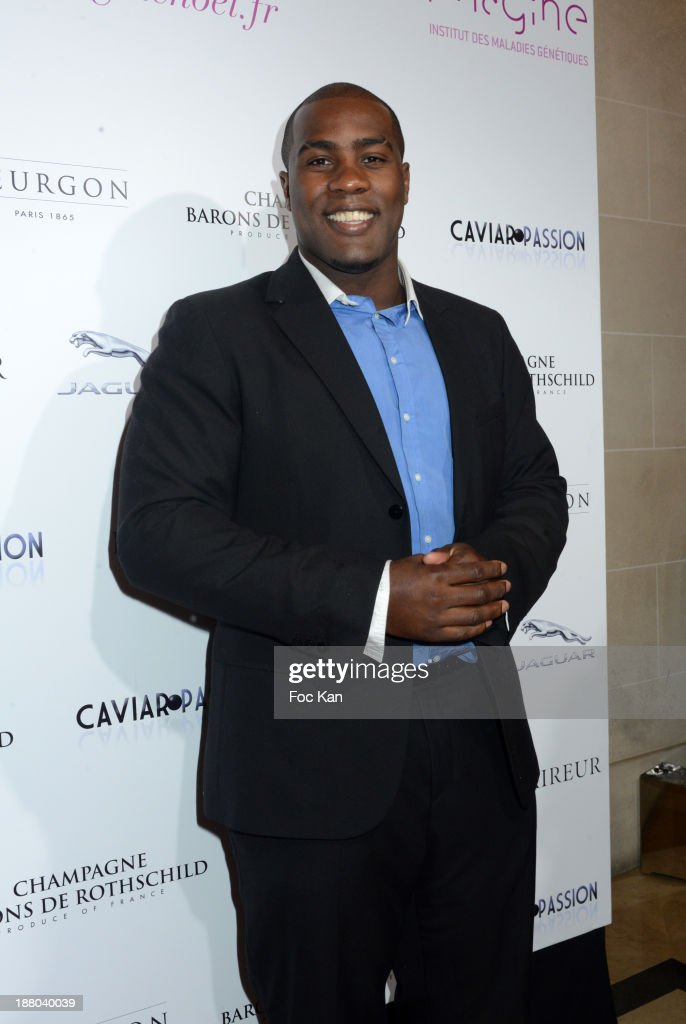 <a gi-track='captionPersonalityLinkClicked' href=/galleries/search?phrase=Teddy+Riner&family=editorial&specificpeople=4114927 ng-click='$event.stopPropagation()'>Teddy Riner</a> attends the 'Winter Time 2013' : Cocktail at L'Eclaireur Cafe on November 14, 2013 in Paris, France.