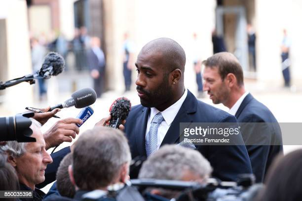 Teddy Riner during the reception of the CIO by the French President at Elysee Palais on September 15 2017 in Paris France