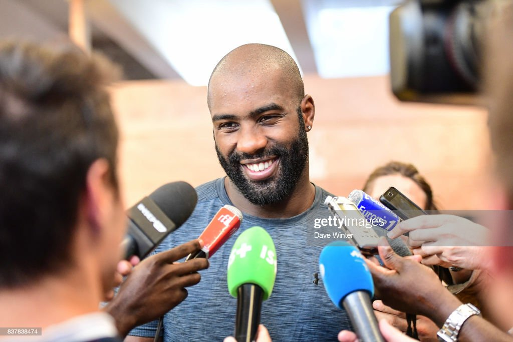 Teddy Riner (+100kg) during the training session and press conference media day of the France judo team at INSEP on August 23, 2017 in Vincennes, France.