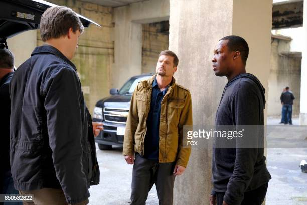 Teddy Sears guest star Bailey Chase and Corey Hawkins in the '200 PM300 PM' episode of 24 LEGACY airing Saturday Feb 18 on FOX