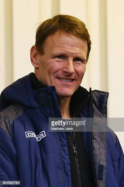 Teddy Sheringham the player manager of Stevenage looks on during the Barclays U21 Premier League match between Tottenham Hotspur U21 and Chelsea U21...