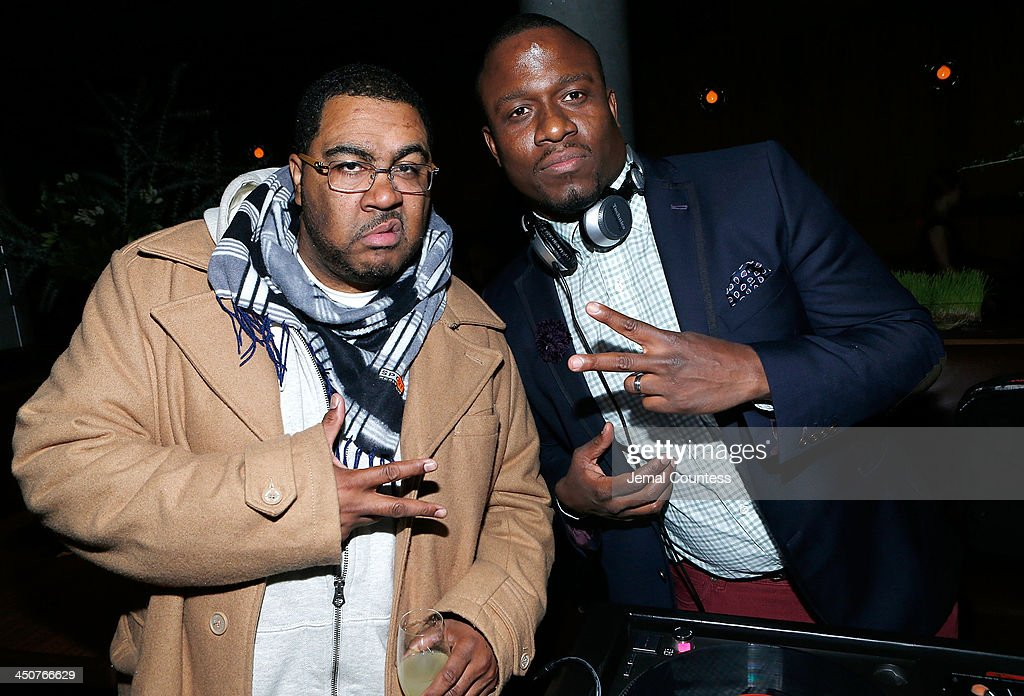 DJ Teddy Ted and DJ M.O.S attend the Tequila Baron Launch Party at Butter Restaurant on November 19, 2013 in New York City.