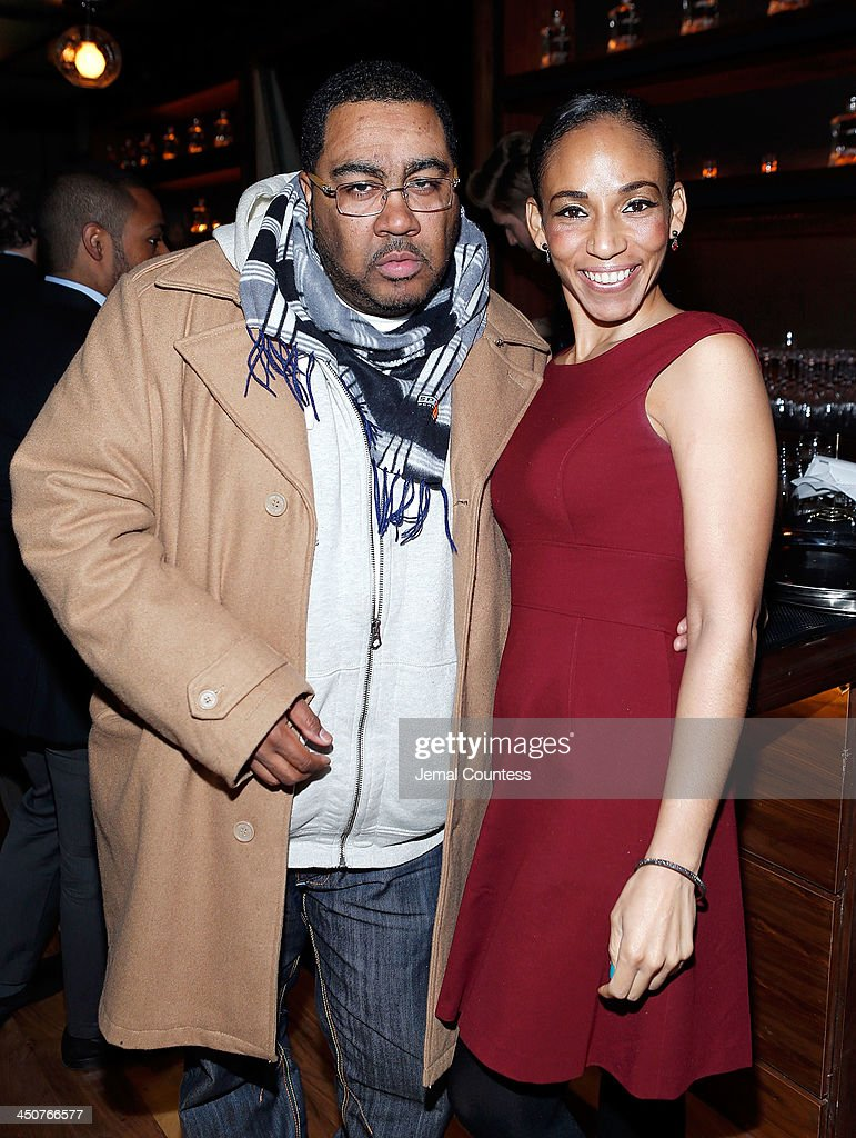 DJ Teddy Ted and Racquel McDonald attend the Tequila Baron Launch Party at Butter Restaurant on November 19, 2013 in New York City.
