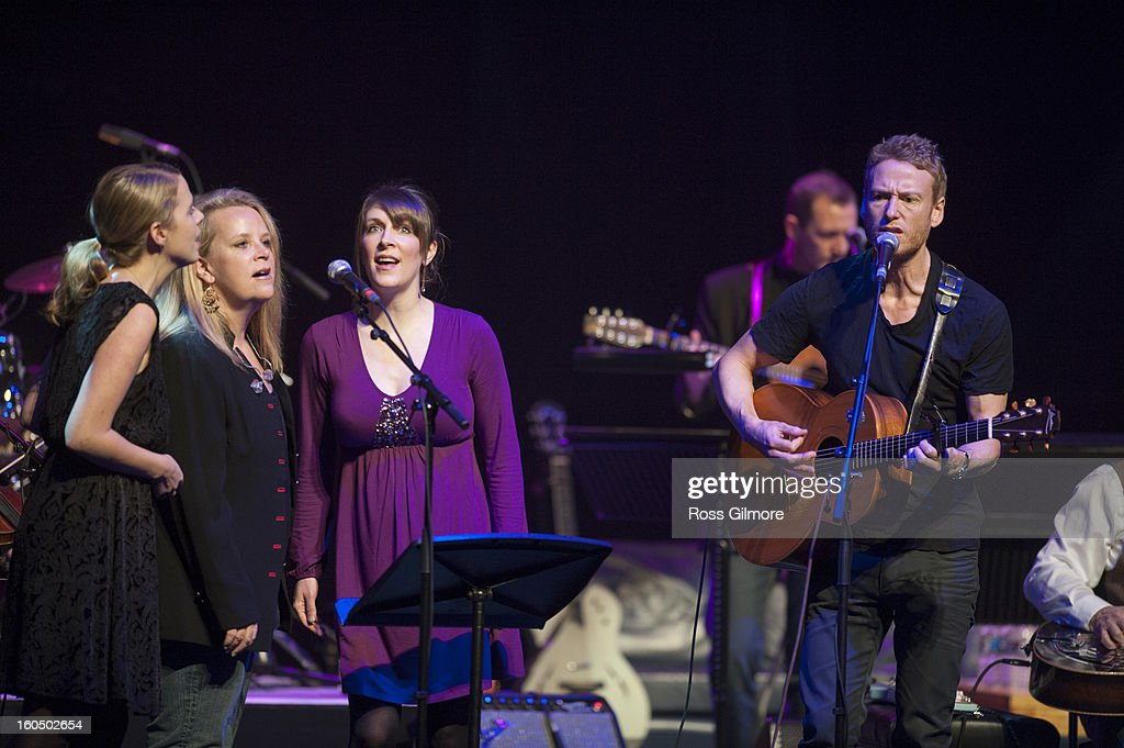 Teddy Thompson is joined on stage by Aoife O'Donovan, Mary Chapin Carpenter and Emily Smith as they perform on stage as part of Transatlantic Sessions during Celtic Connections Festival 2013 at Glasgow Royal Concert Hall on February 1, 2013 in Glasgow, Scotland.
