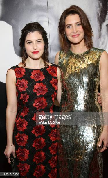 Tedra Millan and Cobie Smulders attend Broadway Opening Night After Party for 'Present Laughter' at Gotham Hall on April 5 2017 in New York City