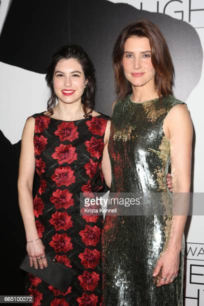 Tedra Millan and Cobie Smulders attend the 'Present Laughter' Opening Night After Party at Gotham Hall on April 5 2017 in New York City