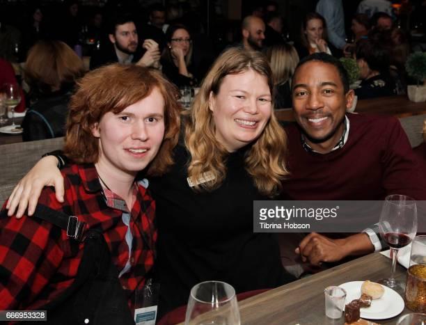 Tee Craven Desiree Andrews and Steve Wilson attend the 2017 Aspen Shortsfest Awards Dinner on April 9 2017 at Aspen Kitchen in Aspen Colorado