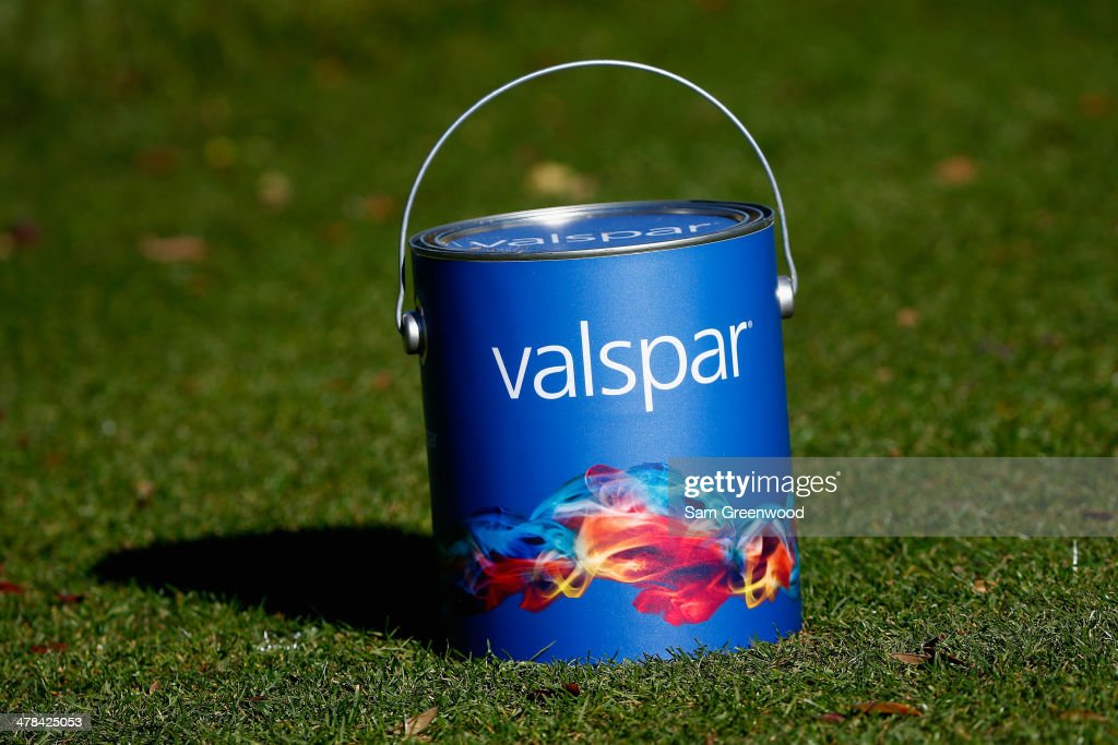 A tee marker as seen on the 9th tee box during the first round of the Valspar Championship at Innisbrook Resort and Golf Club on March 13, 2014 in Palm Harbor, Florida.