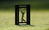 A tee marker is seen during the first round of THE PLAYERS Championship on The Stadium Course at TPC Sawgrass on May 8 2014 in Ponte Vedra Beach...