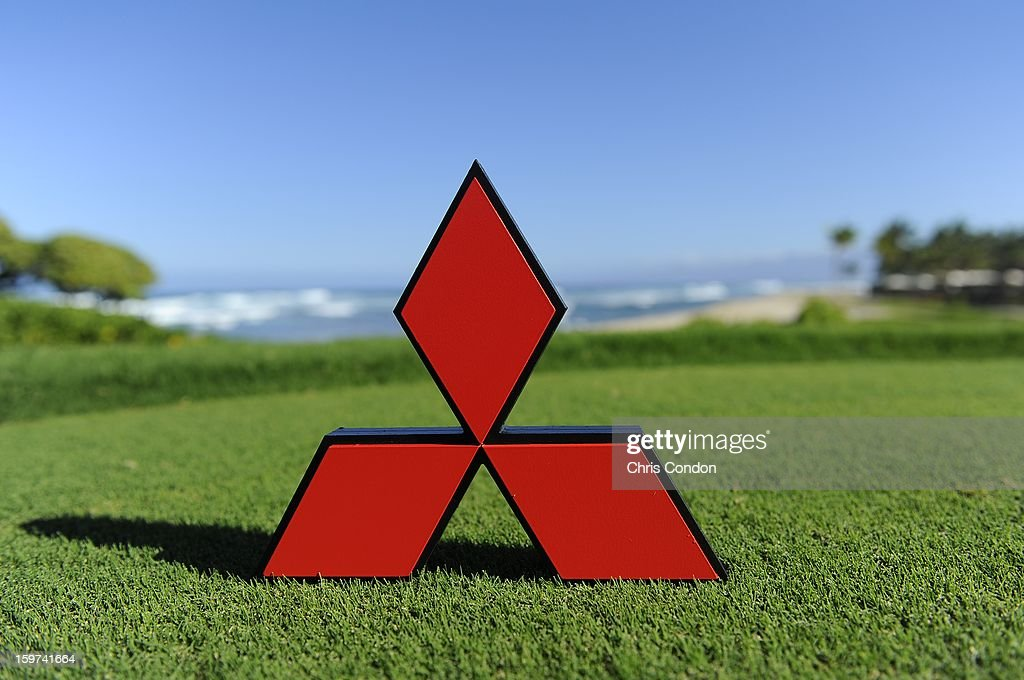 KA'UPULEHU-KONA, HI - JANUARY 19: A tee marker on display at the 18th tee during the second round of the Mitsubishi Electric Championship at Hualalai Golf Club on January 19, 2013 in Ka'upulehu-Kona, Hawaii.