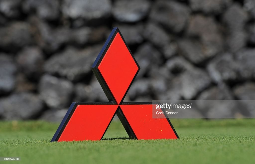 KA'UPULEHU-KONA, HI - JANUARY 18: A tee marker on the 9th tee during the first round of the Mitsubishi Electric Championship at Hualalai Golf Club on January 18, 2013 in Ka'upulehu-Kona, Hawaii.