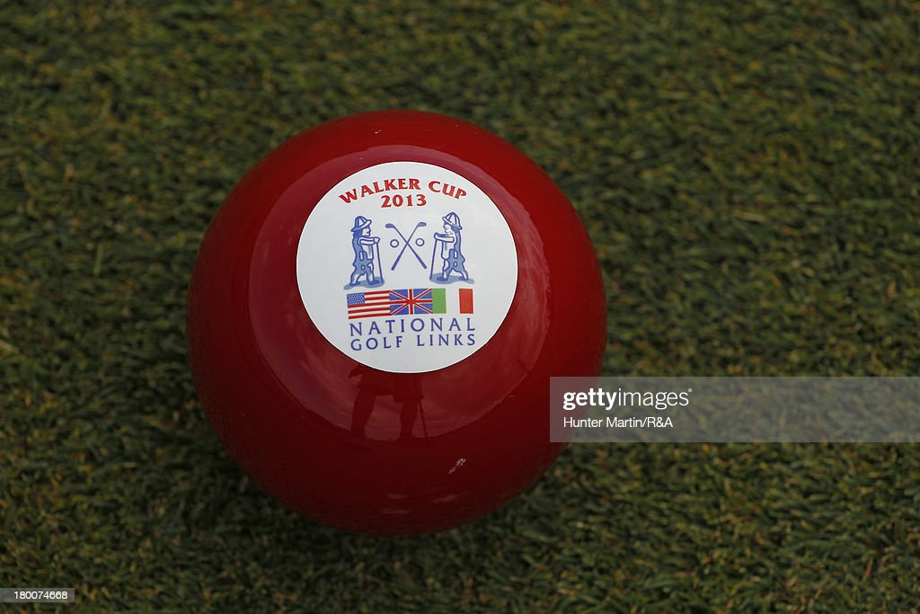 A tee marker sits on the fifth hole on Day Two of the afternoon singles matches of the 2013 Walker Cup at National Golf Links of America on September 8, 2013 in Southampton, New York.