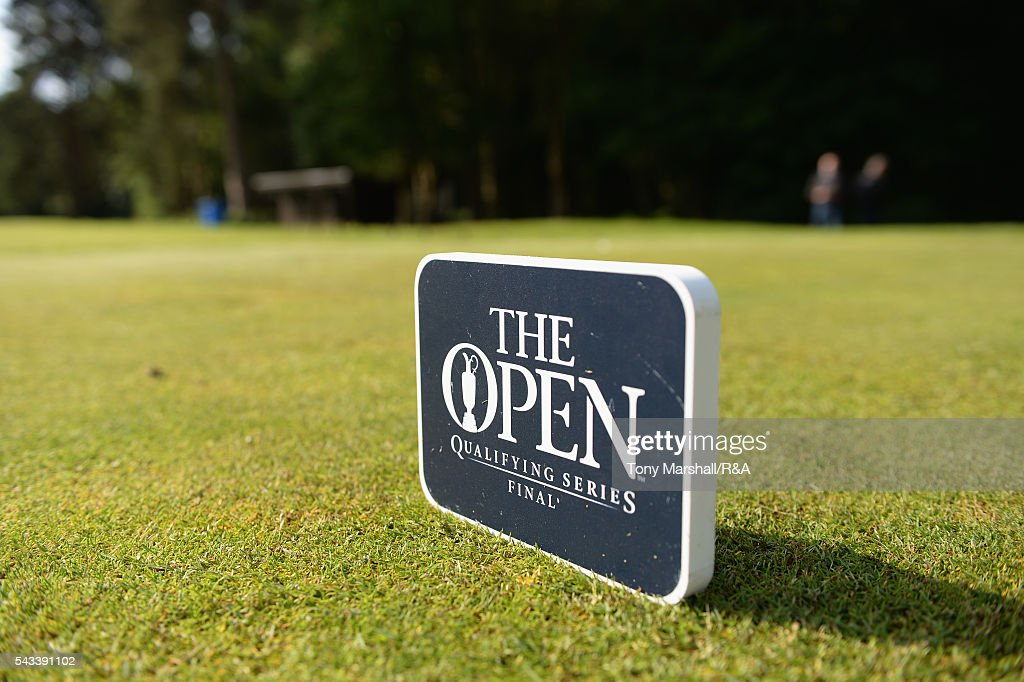 Tee markers on the 1st tee during the Open Championship Qualifying - Woburn at Woburn Golf Club on June 28, 2016 in Woburn, England.