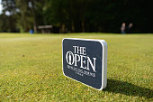 Tee markers on the 1st tee during the Open Championship Qualifying Woburn at Woburn Golf Club on June 28 2016 in Woburn England